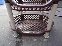 Этажерка Efe бежево-коричневая