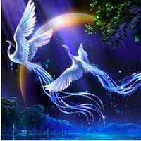 Кристаллы вышивка лоскутное прекрасное украшение стены лобби украшения животные птицы любо