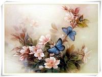 Новое поступление цветы и бабочки сделай сам алмаз вышивка живопись полный вышивки крестом