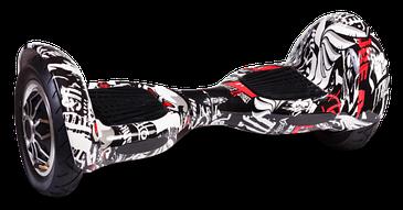 """Гироскутер гироборд Smart Balance Wheel 10"""" i10 с автобалансом и пультом Bluetooth Pirates Граффити Пираты"""