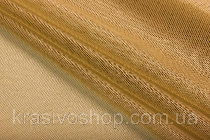 Ткань для тюля фатин лайт горчица