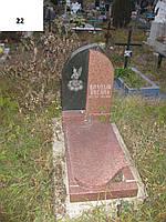 Дитячий пам'ятник на могилу чорного та червоного кольору із граніт та ангелом