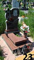 Дитячий пам'ятник із граніту комплекс чорний та червоний колір
