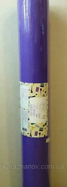 Простынь фиолетовая, одноразовая из нетканого материала, спанбонд в рулоне 0,6м*100п.м.