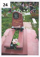 Дитячий пам'ятник із червоного граніту комплекс на могилу