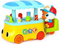 Музыкальная детская игрушка Huile Toys Тележка с мороженым (6101)