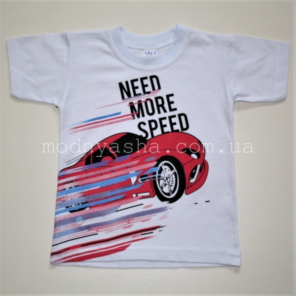 Футболка мальчику NEED MORE SPEED 1-2 года