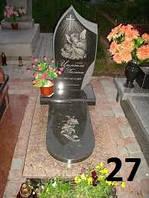 Дитячий пам'ятник з підсвічником і хрест із граніту