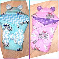 2 в 1 Одеяло конверт на выписку в роддом для прогулок Мишки Тедди