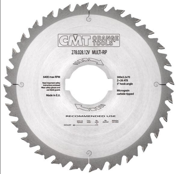 Пильный диск CMT 350x70x3,5x36  для многопила с ограничителем, продольный рез
