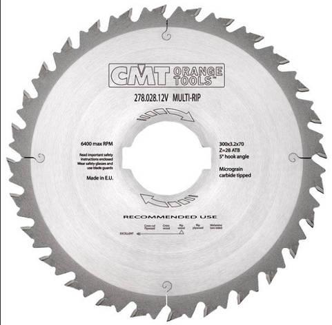 Пильный диск CMT 350x70x3,5x36  для многопила с ограничителем, продольный рез, фото 2