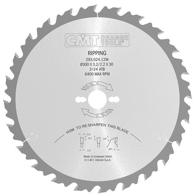 Пильный диск CMT 300x30x3,2x24  на циркулярку, чистый продольный рез