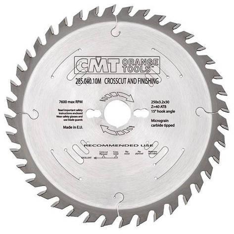 Пильный диск CMT 254x30x2,4x48  универсальный, продольный и поперечный рез, фото 2