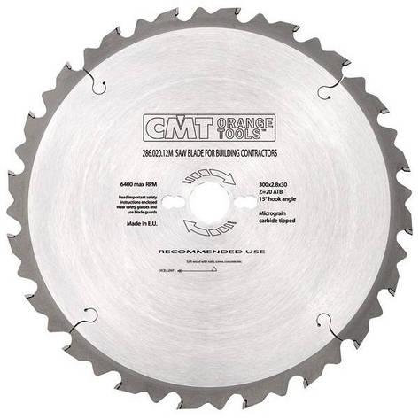 Пильный диск CMT 305x30x3,2x72 торцовочный , поперечный чистый рез, фото 2