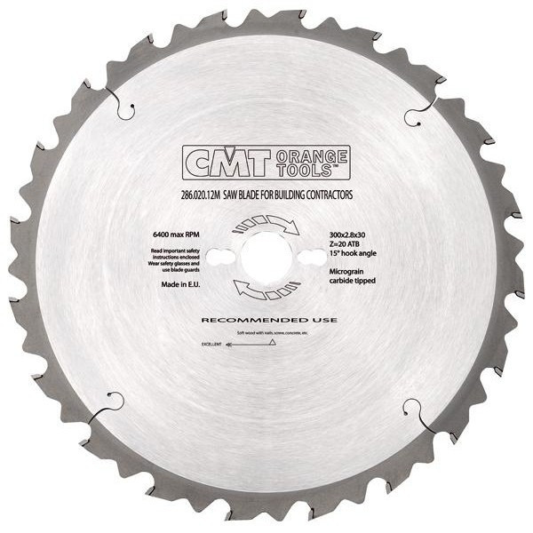 Пильный диск CMT 315x30x3,2x72 торцовочный , поперечный чистый рез