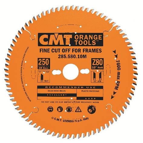 Пильный диск CMT 250x30x3x80 торцовочный , поперечный чистый рез Xtreme, фото 2