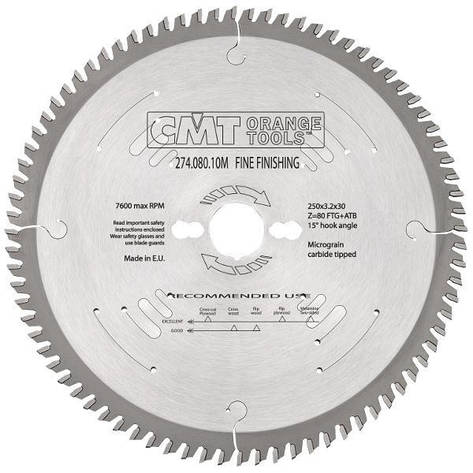 Пильный диск CMT 300x30x3,2x100  торцовочный,формато-раскроечный поперечный рез Xtreme, фото 2