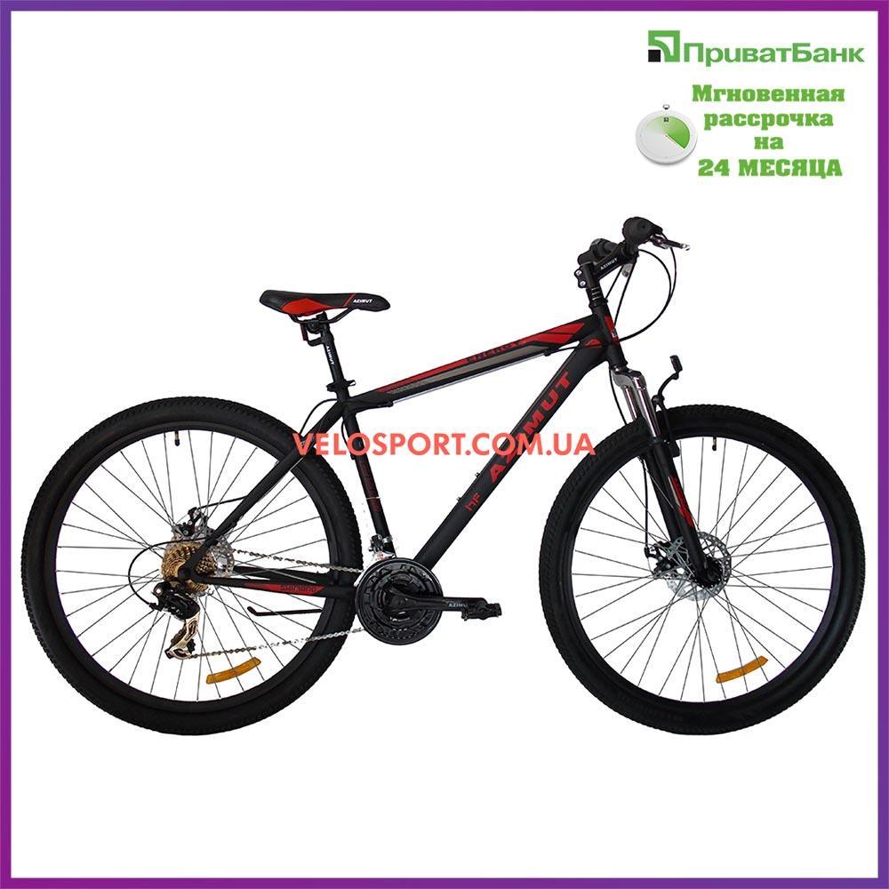 """Горный велосипед Azimut Energy 29 GD 19"""" черно-красный"""
