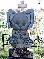 Дитячий пам'ятник заєць із граніту
