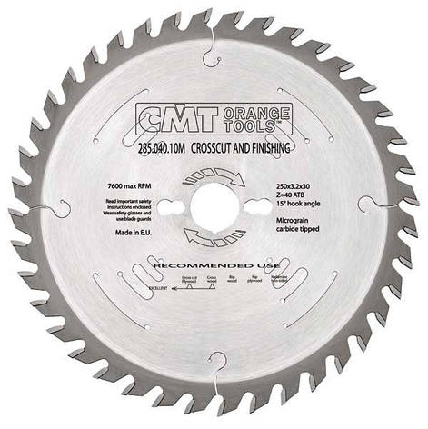 Пильный диск CMT 240x30x2,8x36  универсальный для ручных циркулярок, фото 2