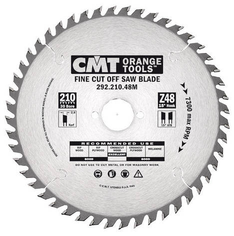 Пильный диск CMT 190x20x2,6x40  поперечный рез для ручных циркулярок, фото 2