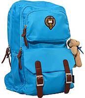 Рюкзак подростковый Х163 Oxford бирюзовый, 47*29*16см 552557