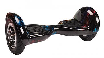 """Гироскутер гироборд Smart Balance Wheel 10"""" i10 с автобалансом и пультом Bluetooth Цветная молния"""