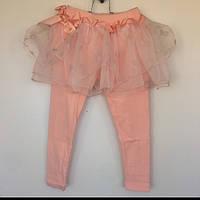Лосины для девочки с юбкой Vilen Китай персиковые 025