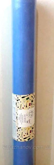 Одноразовая простынь из нетканого материала, спанбонд в рулоне 60/100 м. голубая