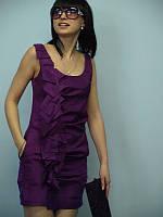 Женская одежда платье нарядное Nysense Франция фуксия шёлк 6117