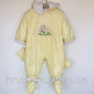 Комбинезон трансформер для девочки IsoSoft Pilguni Польша жёлтый 16-44