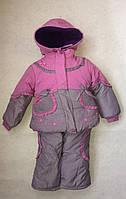 Комплект (куртка+полукомбинезон) для девочки Бантик 74,80,86,92 Vilen Китай лавандовый 808
