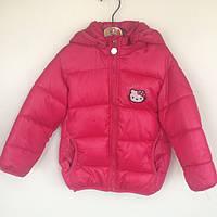Куртка детская демисезонная для девочки Hello Kitty Vilen Китай малиновая 2370