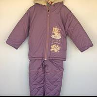 Комплект (куртка+полукомбинезон) для девочки Польша сиреневый 9587