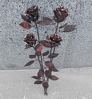 Роза кованая бронза, букет роз на кладбище, фото 1