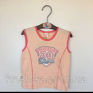 Майка для девочки Бемби Украина розовая ФБ 41