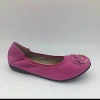 Туфли для девочки MichaelCors (31,35) р CotaDog Корея малиновые J-6