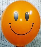 "Гелиевый шар ""Улыбка"" Оранжевый 30см"