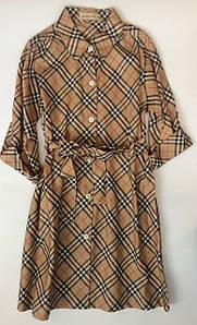 Платье для девочки  клетка Burberry Vilen Китай 8204