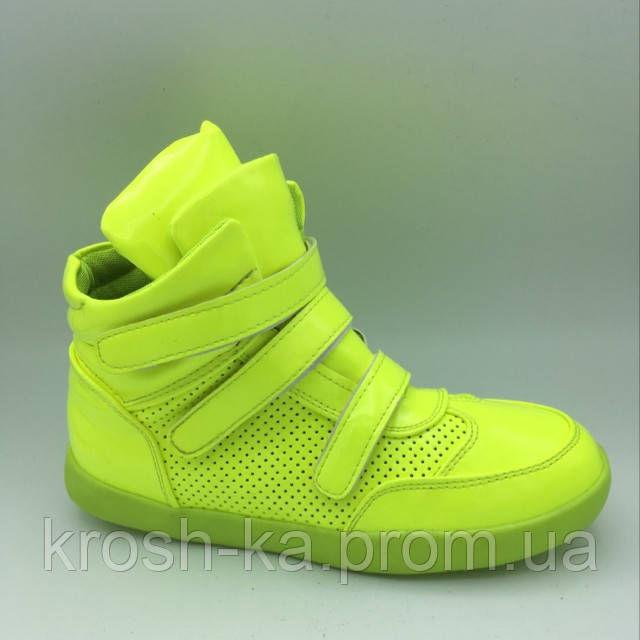 Кроссовки для девочки высокие (32,35,36) р Китай неоновые 04800