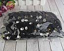 Резинки для волос микрофибра с кристаллом d 5,5 см 50 шт/уп, фото 5
