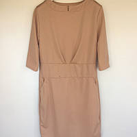 Женская одежда платье Histeric Glamour Китай бежевое трикотаж 0276