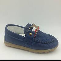 Туфли для мальчика мокасины Gucci (23-30) р Китай синие 1615