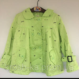 Куртка детская ветровка для девочки Vilen Китай салатновая 1997