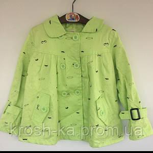 Куртка-ветровка для девочки салатовая (92)р Vilen Китай 1997