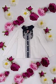 Блуза школьная трикотажная для девочки Мирослава (152 размер) (Suzie)Сьюзи Украина молочный КФ-16703