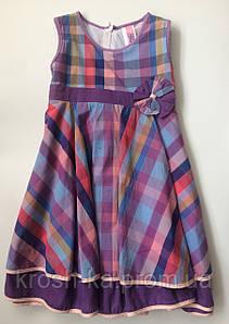 Платье для девочки летнее клетка Элина(110)р Vilen Китай 9476