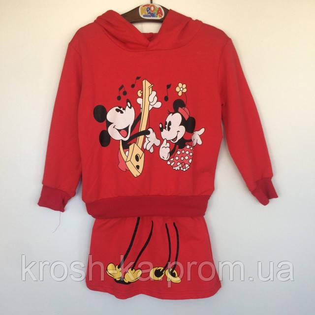 Костюм для девочки Микки Vilen Китай красный 4008