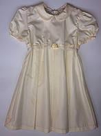 Платье нарядное для девочки Dominka Польша экри 83710