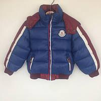 Куртка детская демисезонная на биопухе для мальчика Moncler Vilen Китай синяя 6020